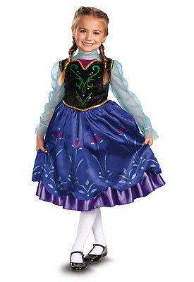 Disney Frozen Princess Anna Deluxe Toddler Child Costume (Toddler Anna Costume)