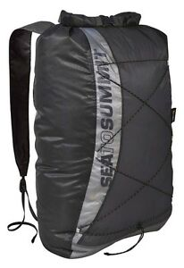 Sea To Summit UltraSil Dry Day Pack Black Lightweight Waterproof Travel Rucksack