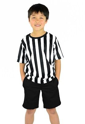 Mato & Hash Kid's Referee Ref Short Sleeve Official Costume Shirt Toddler
