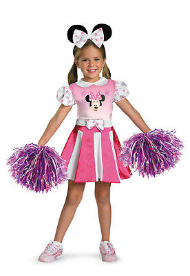 Disney Mickey Mouse Clubhouse Minnie Mouse Cheerleader Toddler Child Costume