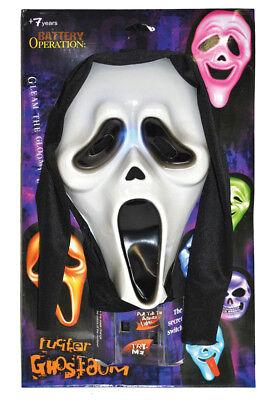 Horror Scream Geister Maske - beleuchtet in verschiedenen Farben Halloween