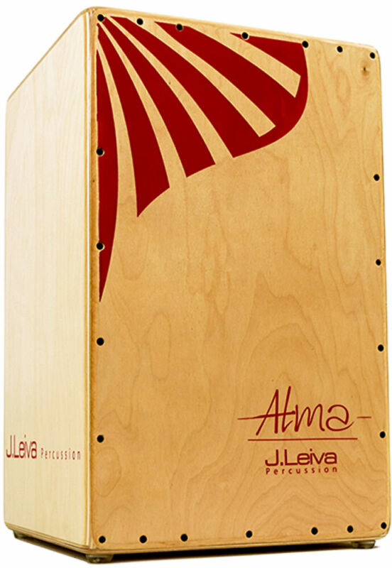 Leiva CAJ112 ALMA CAJON, Red. Flamenco Box Drum. Birch ply body. At Hobgoblin
