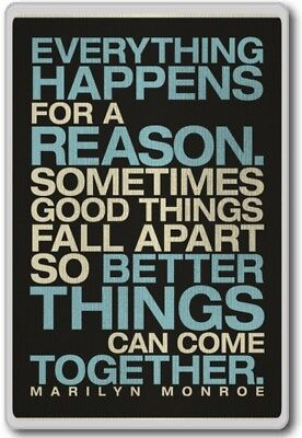 Everything Happens For A Reason  Marilyn Monroe   Motivational Inspirational