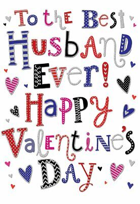 To The Best Husband Ever Bright Text Design Valentines Day Card Lovely
