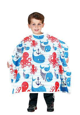 "Betty Dain 400-AA Anchors Away Kids Shampoo cape,Snap closure 30""x36"""