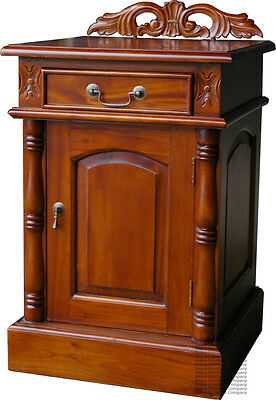 Bedside Cupboards - Mahogany - New - Pair Of