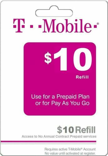 T - MOBILE Prepaid $10 Refill Top-Up Prepaid Card / DIRECT RECHARGE!!!