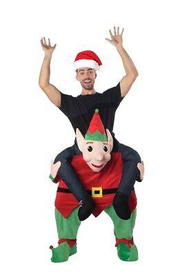 Trage Mich Elfen Erwachsene Kostüm Herren Riding Rider Weihnachtsferien - Herren Kostüm Tragen