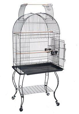 """NEW 24"""" Wide Open Play Dome Top  Bird Parrot Cockatiel Caique Conure Cage 367"""