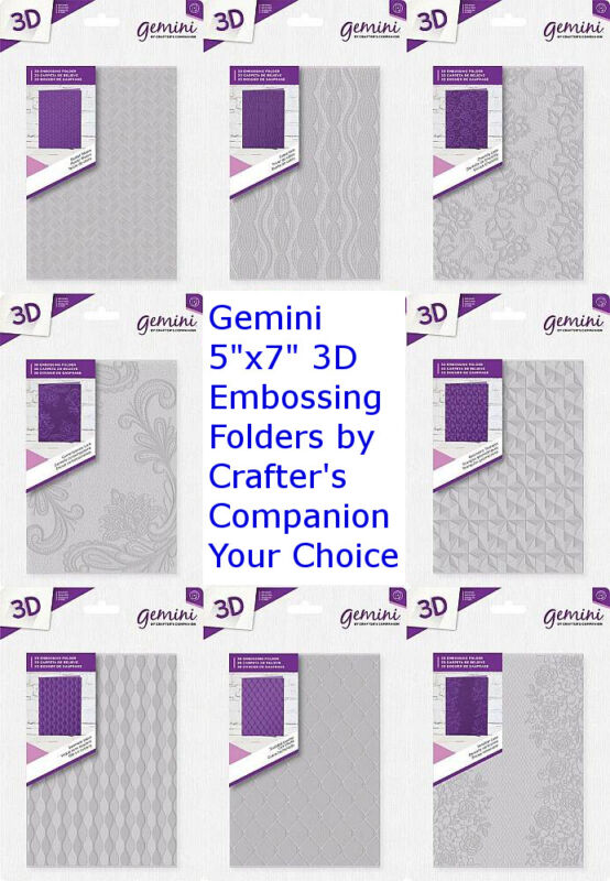 "Gemini 5"" x 7"" 3D Embossing Folders by Crafter"