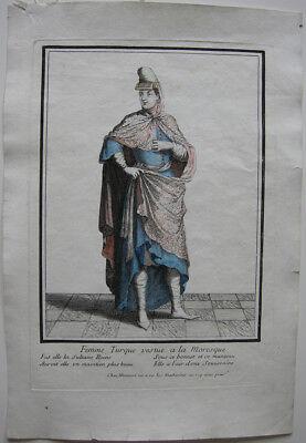 Kostüm altkolor. Orig. Kupferstich bei Bonnart 1700 (1700 Kostüm)