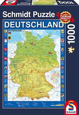 piele Puzzle Deutschlandkarte 58287 (Puzzle Karte)