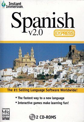 Spanish Express V2 Instant Immersion Language Lessons 2Cdset Win  Mac Ships Free