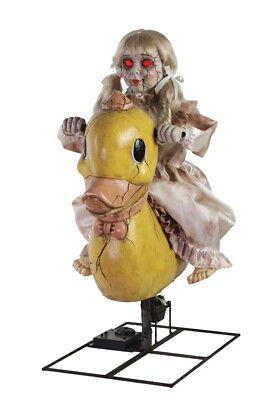 Halloween Animatronic ROCKING DUCKY CRACKED DOLL Seasonal Visions Prop (Cracked Doll)