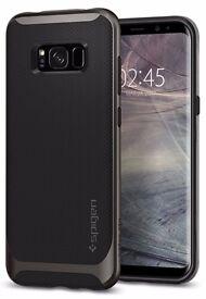 Samsung Galaxy S8 Case, Spigen® Neo Hybrid Sturdy Protection Bumper Frame - Gunmetal