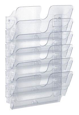 DURABLE Wandprospekthalter FLEXIPLUS 6 Fächer transparent für A4 quer