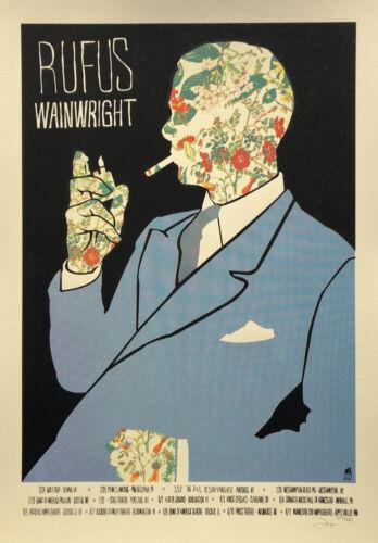 Rufus Wainwright screen print concert poster 2012 U.S. Tour