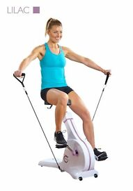 Cycle Tone Exercise Bike and Toning System (Lilac or Blue stripe)
