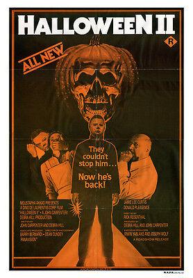 HALLOWEEN II Movie Poster RARE TV Ad Horror - Halloween Ii Poster