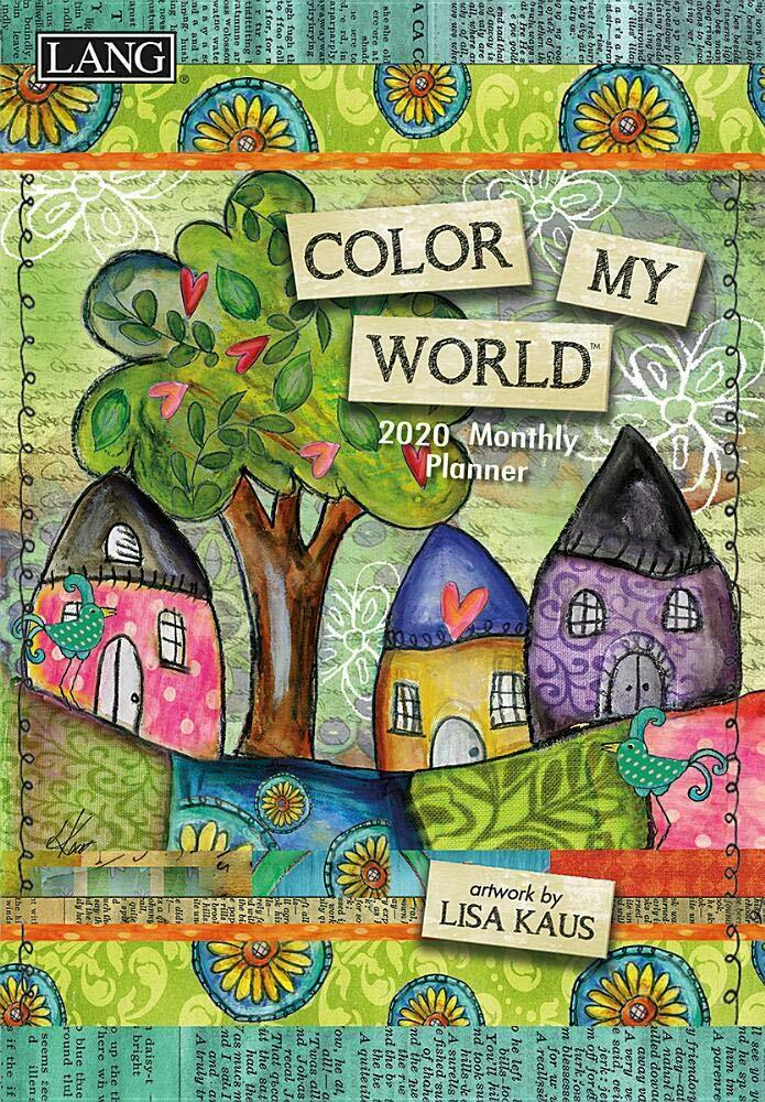 COLOR MY WORLD - 2020 MONTHLY PLANNING CALENDAR - LANG PLANN