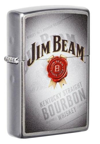 Zippo Windproof Jim Beam Lighter With Bourbon Whiskey Design, 49323, New In Box