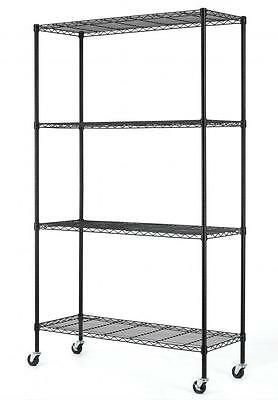 82 X48 X18  Commercial 4 Tier Shelf Adjustable Steel Wire Metal Shelving Rack 74