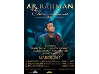 2 TICKETS TO AR RAHMAN MANCHESTER ARENA 26TH MARCH