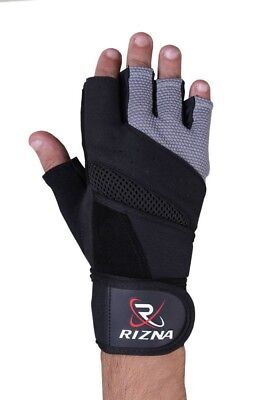Weight Lifting Gloves With Long Wrist Strap For Better Fitting & Grip