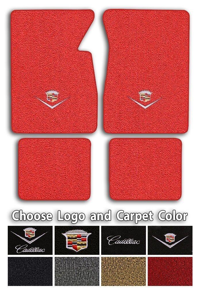 Cadillac Custom Logo Loop Carpet Floor Mats Choose Mat Color And Logo Ebay