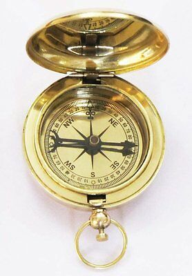 Maritime CompassNautical Push Button  Directional Pocket compass Best Gift Item