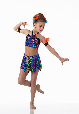 Witch Doctor Dance Costume Biketard Baton Jazz Tap New Clearance Child X-Small - Doctors Outfit Child
