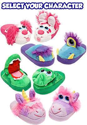 Stompeez Kids Slippers Fun Safe Soft Comfy Walk Stomp Jump Child Gift