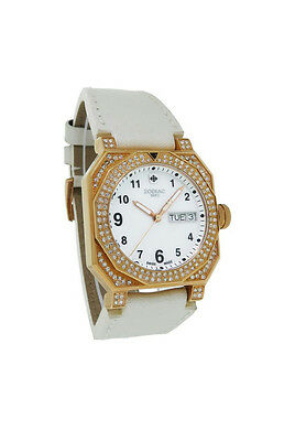 Icon Analogue Watch - Zodiac ZO8802 Icon Fashion Women's Mother of Pearl Day Date Analog Leather Watch