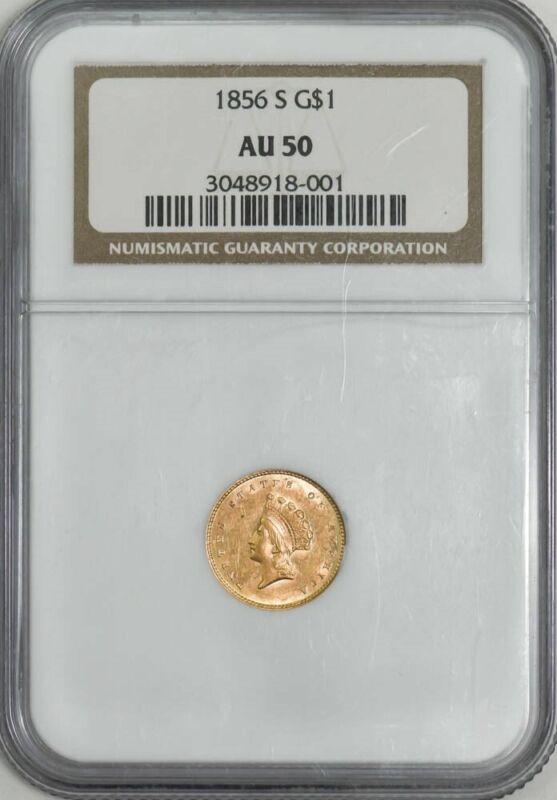 1856-S $ Gold Indian AU50 NGC 943027-1