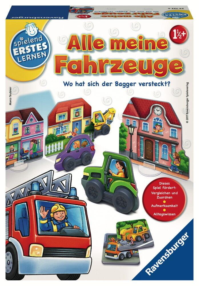 Ravensburger Spielend Erstes Lernen Zuordnungsspiel Alle meine Fahrzeuge 24722