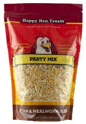 Happy Hen Treats Party Mix Corn Mealworm Blend 2 Lb. Bag Farm Chicken Treat