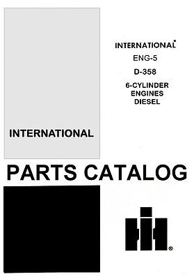 International Farmall D-282 301 310 Dt 8 Cylinder Diesel Engine Parts Manual Ih