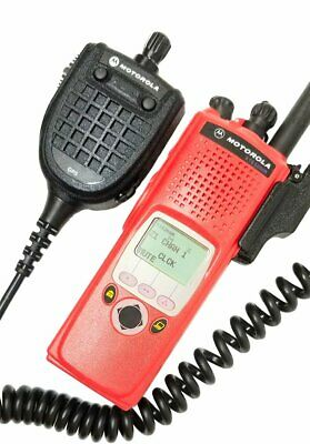 Motorola Astro Xts 5000 Ii Vhf P25 Digital Two Way Radio Aes Des Adp Gps Mic Red