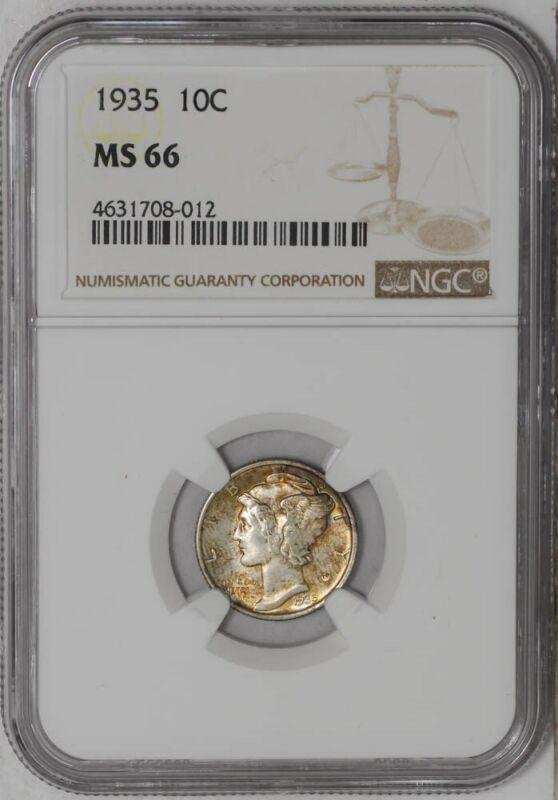 1935 Mercury Dime 10c MS66 NGC  939452-9