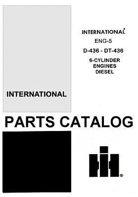 International 1440 1460 1480 Combine D-436 Dt 8 Cy Diesel Engine Parts Manual Ih