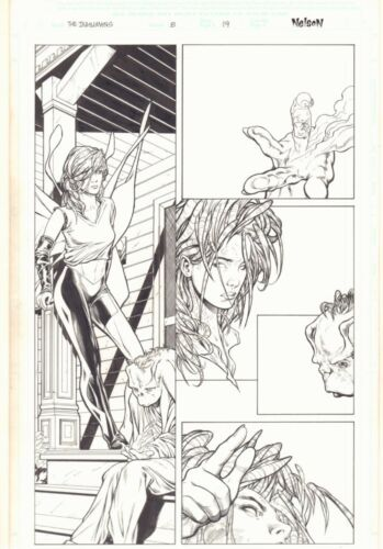 Inhumans #8 p.19 - Hot Tonaja with San - 2003 art by Matthew Clark