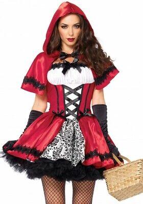 Rebellisches Rotkäppchen Damen-Kostüm von Leg Avenue Gothic Red Riding Hood