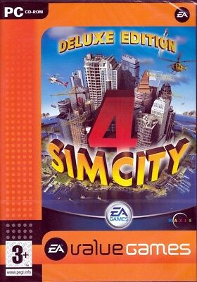 Sim City 4 Deluxe Edition  Pc Game Plus Rush Hour Simcity Free Us Shipping