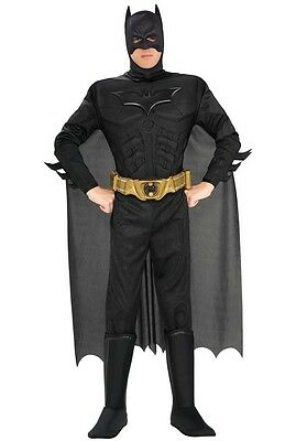 BATMAN Muscle Chest Deluxe Mens Costume, Rubies, Dark Knight, 888630 - Deluxe Batman Dark Knight Costume