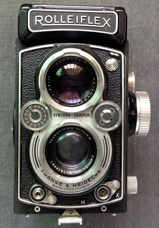 Rolleiflex 3.5B MX-EVS replacement leatherette cover pre-cut self-adhesive!