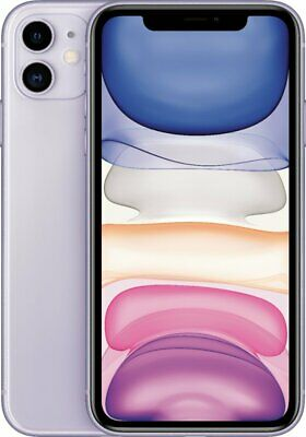 Apple iPhone 11 64GB Purple Verizon T-Mobile AT&T Fully Unlocked Smartphone
