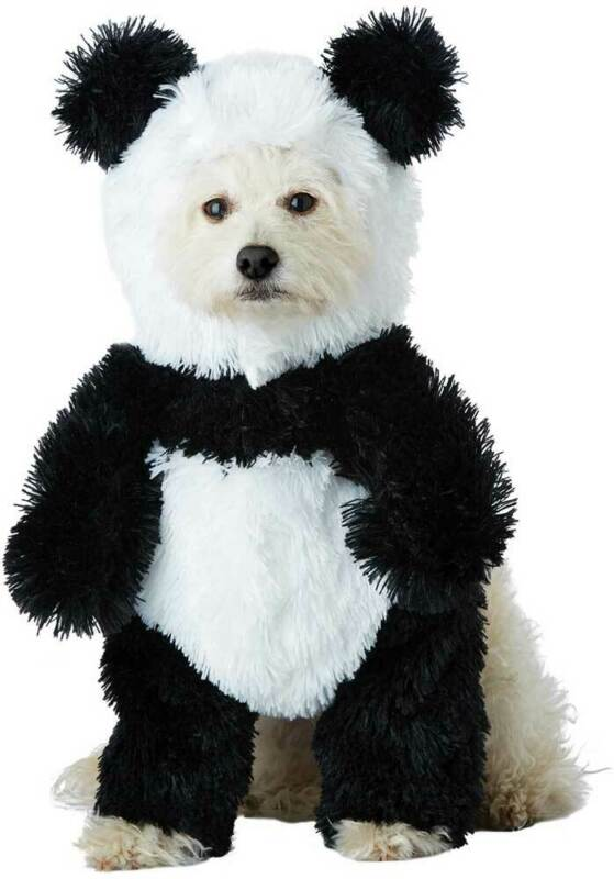 Cute Panda Pooch Stuffed Body Animals Nature Pet Halloween Costume PET20163