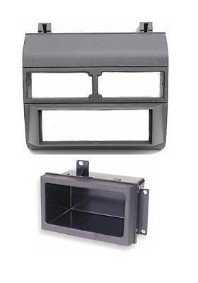 Gmc Chevy Silverado 88-94 Grey Gray Radio Stereo Dash Kit Install W/ Pocket
