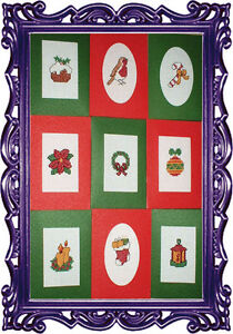 CHRISTMAS SET OF 9  - CROSS STITCH CARDS KIT