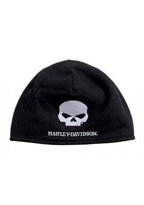Harley-Davidson® Men's Willie G Skull Cold Weather Fleece Hat, Black 99430-16VM